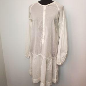 Acoté White Lightweight Shirt Dress / Cover Up 2